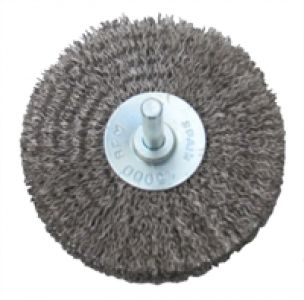 Abracs Crimped 50 mm x 6 mm Spindle Stainless Steel Wire Disc Brush